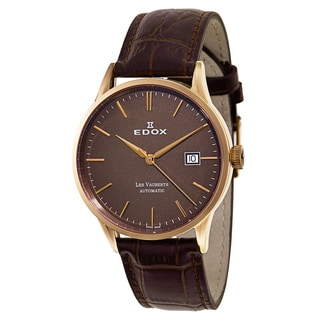 Edox Men's 80081-37R-BRIR Leather Watch
