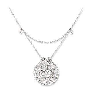 18k White Gold 1ct TDW Diamond Necklace