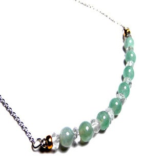 Aquamarine Bar Chain Necklace