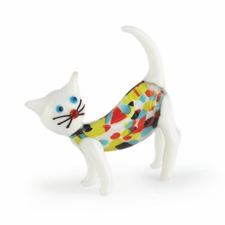 Fitz Floyd Sybil Glass Cat Figurine