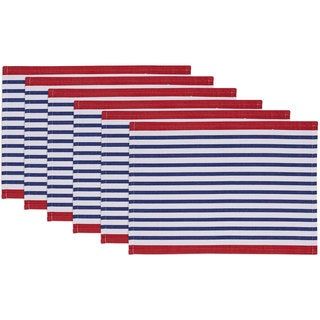 Candy Apple Nauti Stripe Placemat Set of 6