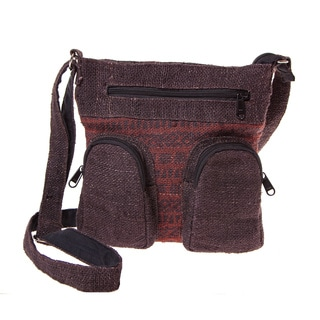 Handmade Rustic Hemp Crossbody Purse (Nepal)