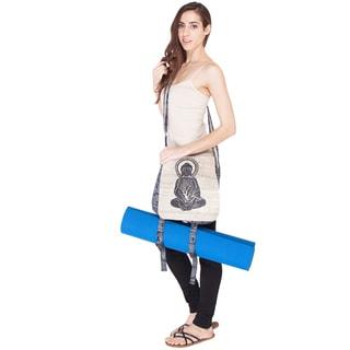 Handmade Meditating Buddha Yoga Mat Messenger Bag (Nepal)
