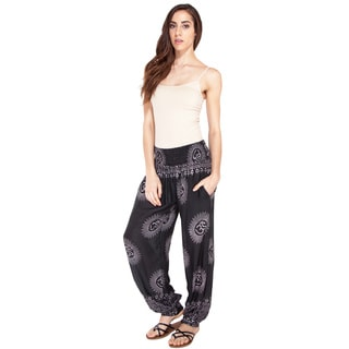 Handmade Sheer Om-burst Cuffed Beach Pants (Nepal)