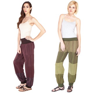Patchwork Stripe Yoga Pants (Nepal)