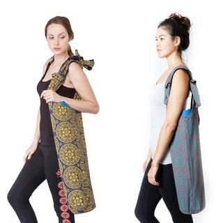 Handmade Om Mandala Print Yoga Mat Bag (Nepal)