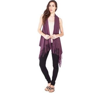 Handmade Summer Om Fringed-vest (Nepal) (Option: Purple)