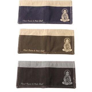 Handmade Meditating Buddha Men's Wallet (Nepal)