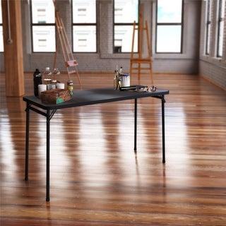 Cosco 20 x 48-inch PVC Top Black Folding Table