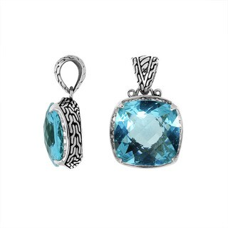 Handmade .925 Sterling Silver Faceted Gemstone Pendant (Indonesia)