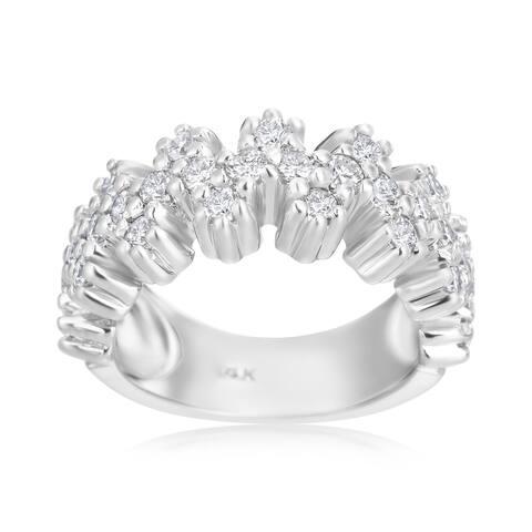 14k White Gold 1ct TDW Diamond Fashion Ring