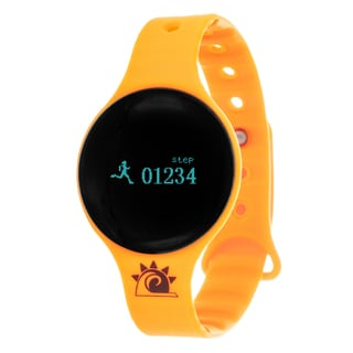 Orange Zunammy Slim Round Activity-Tracker Watch with Tap-Screen Display