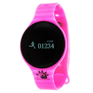 Pink Zunammy Slim Round Activity-Tracker Watch with Tap-Screen Display