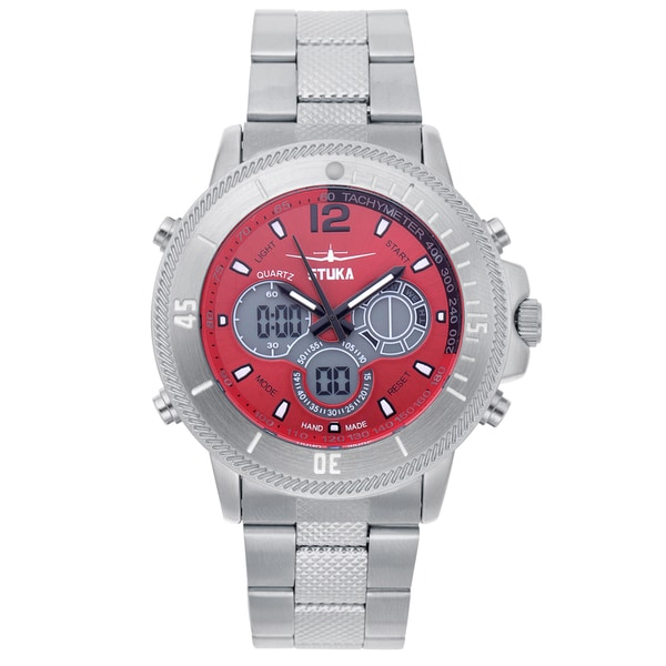 Stuka Men's SR-71 Red Analog/ Digital Hybrid Dial Watch