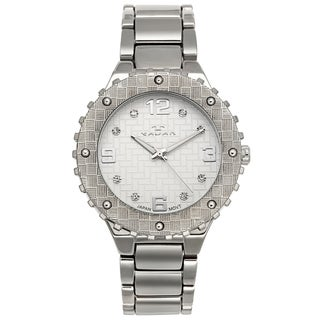Tavan Women's Dieu Le Veut Textured Dial Crystal Indice Watch