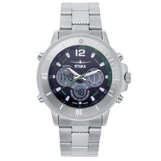 Stuka Men's SR-71 Black and Green Analog/ Digital Hybrid Dial Watch