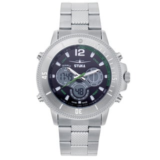 Stuka Men's SR-71 Black and Green Analog/ Digital Hybrid Dial Watch