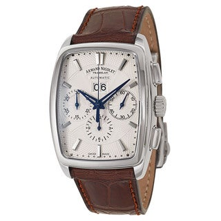 Armand Nicolet Men's 9638A-AG-P968MR3 Leather Watch