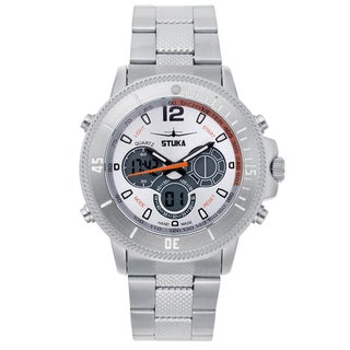 Stuka Men's SR-71 White Analog/ Digital Hybrid Dial Watch