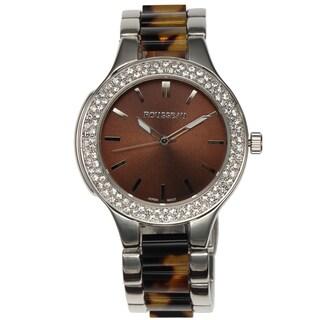 Rousseau Women's Andrea Crystal Bezel Watch