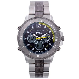 Stuka Men's SR-71 Black and Yellow Analog/ Digital Hybrid Dial Watch