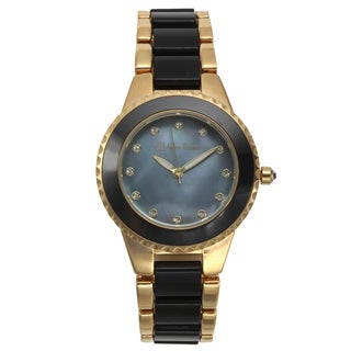 Lucien Pezzoni Women's Gold-tone Sacra Mother of Pearl Dial Watch