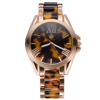 Louis Richard Women's Rose-tone Carra Exotic Bone Coated Watch