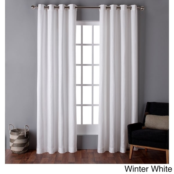 ATI Home Virenze Faux Silk Grommet Top Window Curtain Panel Pair   N/A    Free Shipping On Orders Over $45   Overstock.com   18417284