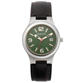 Lombard and Cie Men's Leather Clyde Classic Retro Styling Casual Watch