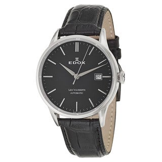 Edox Men's 80081-3-NIN Leather Watch