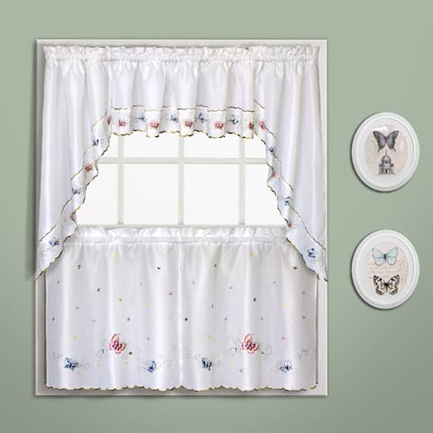Luxury Collection Butterfly Embroidered Kitchen Tiers and Toppers