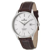 Edox Men's 80081-3-AIN Leather Watch
