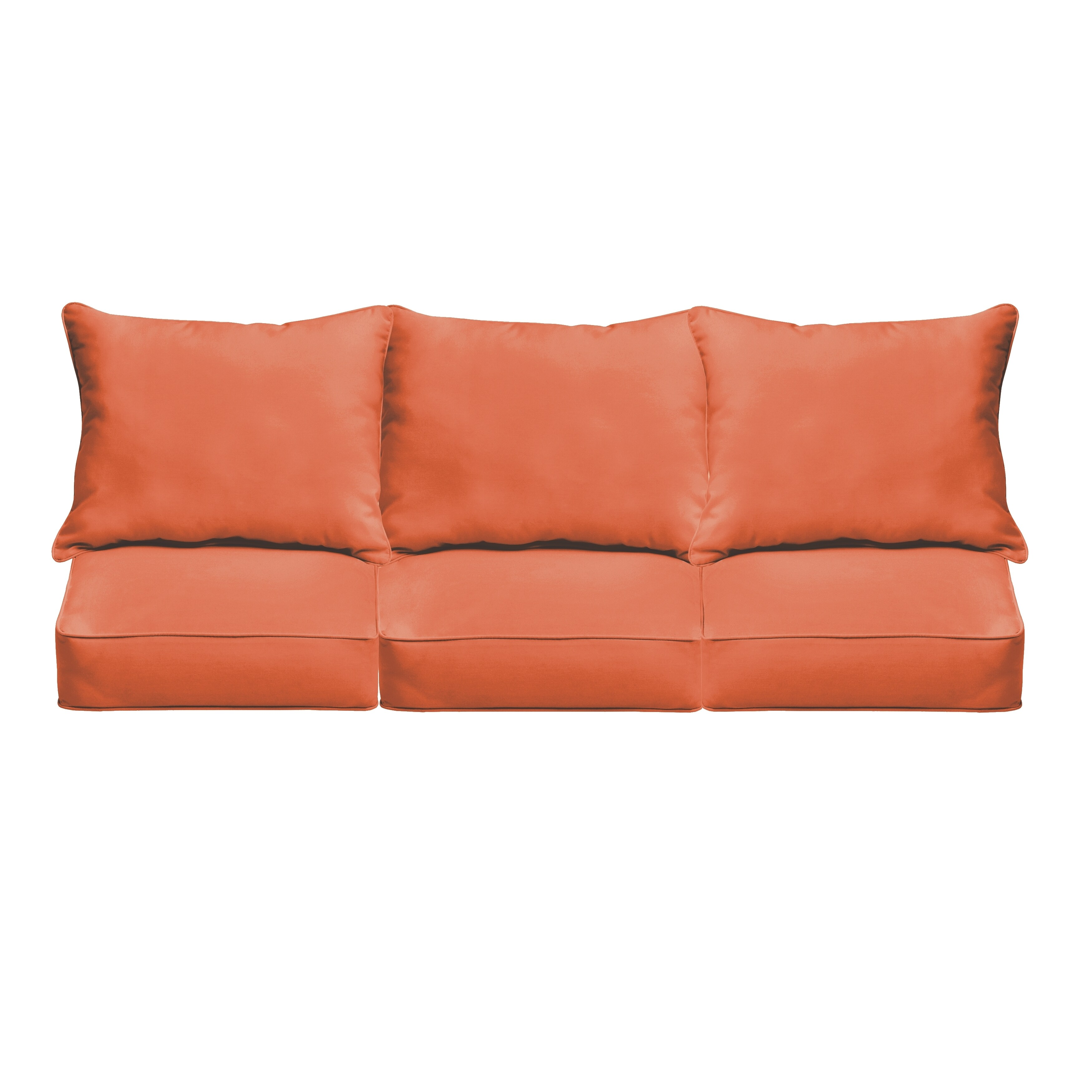 Havenside Home Morgantown Mandarin Orange Indoor/ Outdoor Corded Sofa Cushion Set (OSPCSET4366)