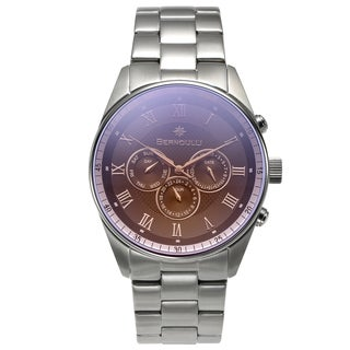 Bernoulli Men's Stainless Steel Eclipse Multi-function Textured Dial Watch