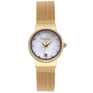 Chaumont Women's Goldtone Stainless Steel Dessay Mother of Pearl Watch