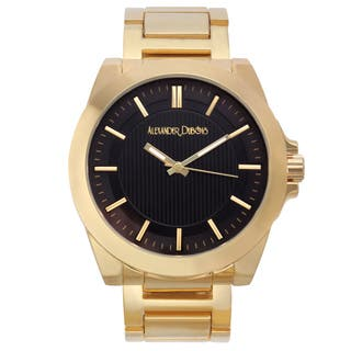 Alexander Dubois Men's St. Emilion Goldtone Ion-plated Multi-textured Dial Watch|https://ak1.ostkcdn.com/images/products/11459802/P18417396.jpg?impolicy=medium