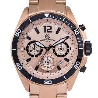 Aubert Freres Men's Rosetone Stainless Steel Ramsay Chronograph Watch