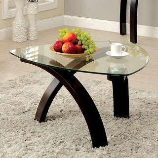 Furniture of America Lexica Contemporary Glass Top Coffee Table