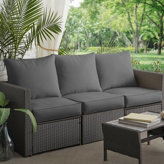 Sloane Charcoal Indoor/ Outdoor Corded Sofa Cushion Set