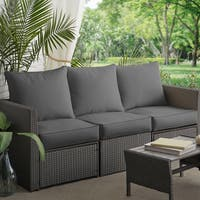 Sloane Charcoal Indoor/ Outdoor Corded Sofa Cushion Set