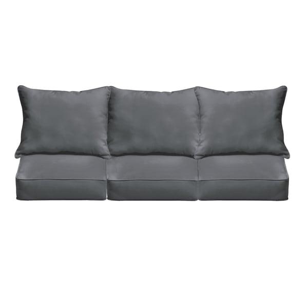 Sloane Charcoal Indoor Outdoor Corded Sofa Cushion Set