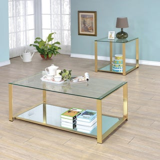 Furniture of America Demora Contemporary 2-piece Metal Accent Table Set