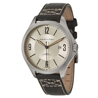 Hamilton Men's H76665725 Leather Watch