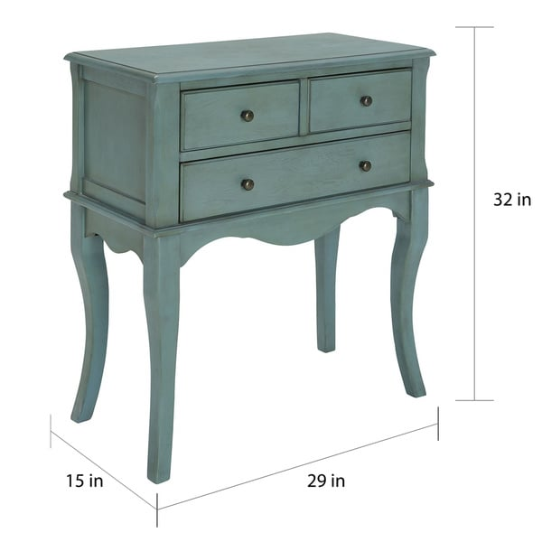 Exceptional Furniture Of America Eloisa Vintage Style 3 Drawer Hallway Table   Free  Shipping Today   Overstock.com   18417451