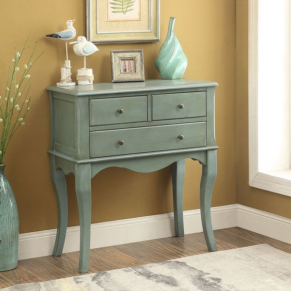 Captivating Furniture Of America Eloisa Vintage Style 3 Drawer Hallway Table