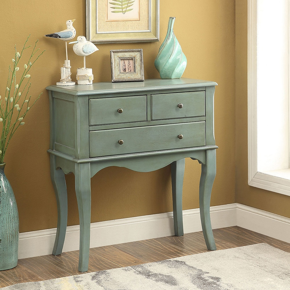 Shop maison rouge bodel vintage style 3 drawer hallway table free shipping on orders over 45 overstock com 11459878