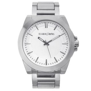 Alexander Dubois Men's St. Emilion Silver-tone Multi-textured Dial Watch