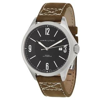 Hamilton Men's H76665835 Leather Watch|https://ak1.ostkcdn.com/images/products/11459881/P18417471.jpg?impolicy=medium