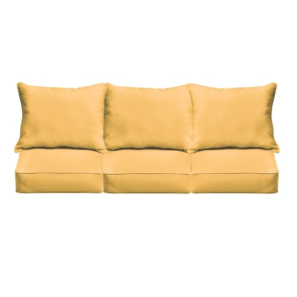 Shop Sloane Butter Yellow Indoor/ Outdoor Corded Sofa