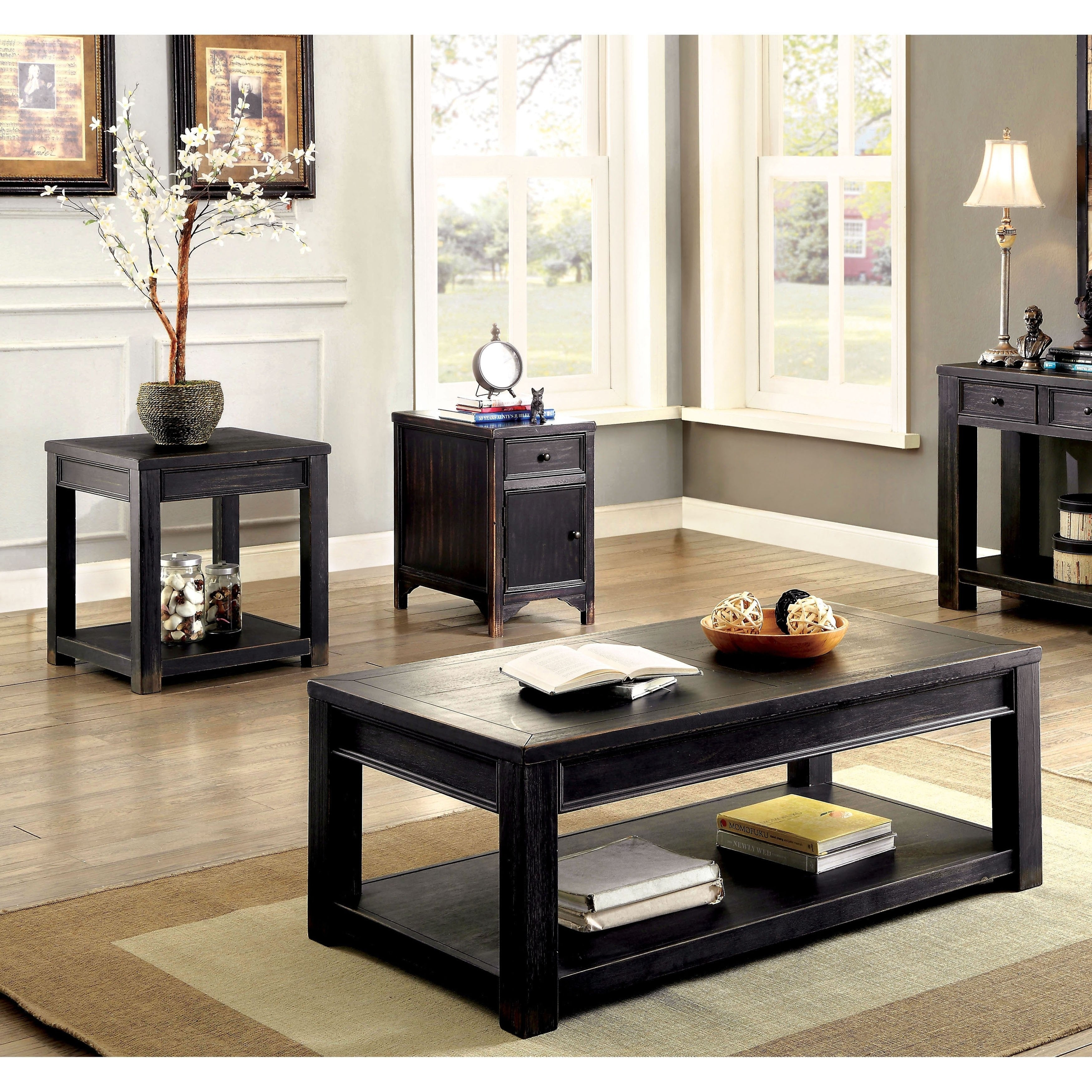 Transitional Coffee Table Sets 5
